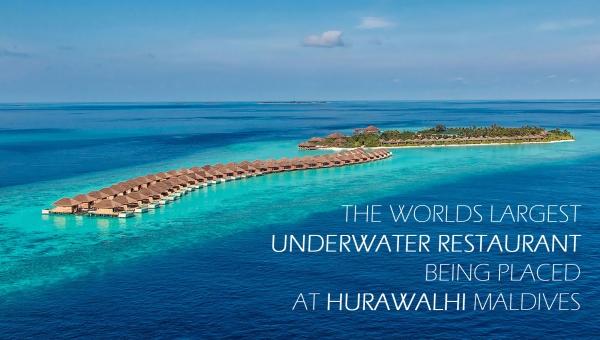 The worlds largest underwater restaurant being placed at Hurawalhi Maldives