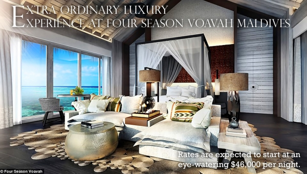 Extra Ordinary Luxury Experience at Four Season Voavah Maldives