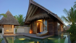 Beach Villa with Pool Sunset