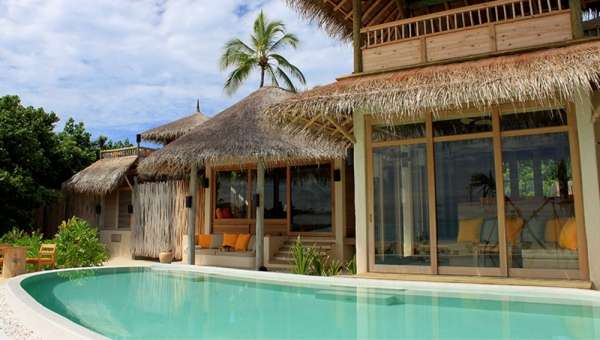 Two Bedroom Lagoon Beach Villa with Pool view