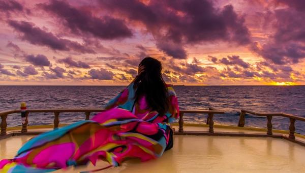 Bubbly Sunset